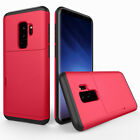 For Samsung Galaxy S9 S8 /+Plus Shockproof Credit Card Holder Rugged Phone Case