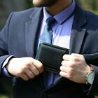 Bifold Wallets For Men RFID Blocking with ID Window Card Holder Leather Wallet
