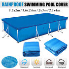 Rectangle Swimming Paddling Pool Cover Inflatable Easy Fast Set Rope Multi-size