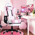 PC Gaming Chair Massage Office Chair Ergonomic Desk Chair Adjustable PU Leather✅