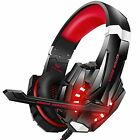 Gaming Headset Stereo Noise Cancelling w/Mic LED Light for PS4 PC Xbox One