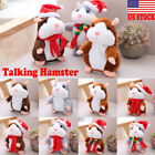 US Cheeky Hamster Talking Pet Soft Toy Cute Sound Christmas Kid Gift