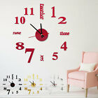 3D DIY Wall Clock Mirror Stickers Watch Dector Big Number for Home Modern Design