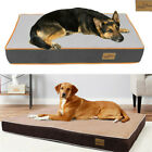 Orthopedic Dog Bed Pet Lounger Cushion Crate Foam Mattress Quilted Padded Waterp