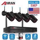 4CH 5MP HD Security Camera System Wireless CCTV WIFI NVR 2TB HDD Outdoor Set P2P