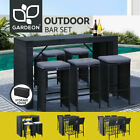 Gardeon 5/7pcs Outdoor Furniture Bar Table Dining Chairs Stools Set Patio Lounge