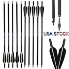 "16""/20"" Crossbow Bolts Carbon Arrows Archery Hunting Target Shooting 12pcs"