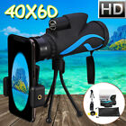 40X60 Zoom Telescope Telephoto Camera Lens Monocular Phone Holder Mount +  T