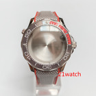 20ATM Gray 41mm Diver Watch Case With Strap Mods Fit ETA2824 Sea-Master Style