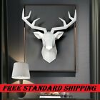 3d Deer Head Sculpture Home Decoration Accessories Modern Animal Figurine Statue
