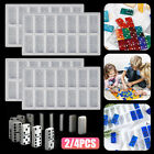 Dominoes Crystal Epoxy Resin Mold Jewelry Making Silicone Mold Hanging Tags DIY