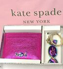 Kate Spade Candy Card Holder Plus Keychain Key Fob Boxed Gift Set New