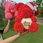 Christmas Decoration 40cm Artificial Rose Heart Teddy Bear Valentines Day Gift