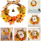 With Bell Pumpkin Wreath Halloween Pendant Door Hanging Artificial Leaves Wreat