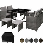 Rattan Garden Furniture Set Cube Wicker 8 Seater Table Cushions Home Patio New