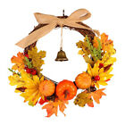 With Bell Halloween Pendant Door Hanging Pumpkin Wreath Artificial Leaves Wreat