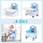 4 in1 Adjustable Baby Feeding Table Dining Chairs Seat Belt Dinner Infant U