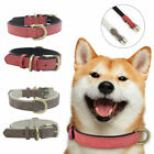 Adjustable Leather Dog Training Collar Metal Buckle Soft Padded Pet Puppy 3 Size