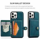For Iphone 12 11 Pro Max Xs 7 8 2in1 Magnetic Leather Flip Cover Card Slots Case