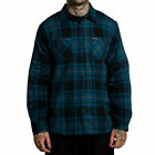 Sullen Men's Struven Flannel Buttondown Long Sleeve Shirt Black Clothing Appa...