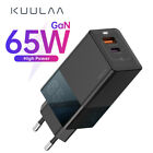 KUULAA 65W GaN Quick Wall Charge 4.0 3.0 USB Type C QC PD For iPhone 12 Xiaomi