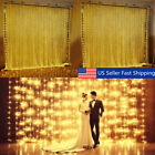 10ft 300 LED Window Curtain Icicle Lights String Fairy Light Wedding Xmas Party