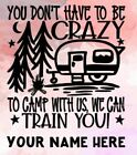 Personalized Vinyl Decal - You Don't Have To Be Crazy To Camp With Us