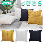 Set of 2 Tassel Cotton Linen Soft Home Decorative Pillow Case Cushion Cover 18""