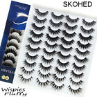 Wispies Fluffy Criss-cross Mix Styles False Eyelashes 3D Mink Lashes Natural