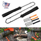 """24"""" Portable Outdoor Survival Chain Saw Chainsaw Emergency Pocket Hand Tools USA"""