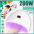 200W LED UV Nail Dryer Lamp Gel Polish Fast Curing Light Professional Manicure