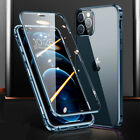 360° Case for iPhone 12 Pro Max 11 XR X Magnetic Adsorption Tempered Glass Cover