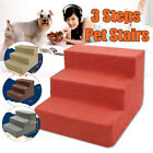 Portable Cat Dog 3 Steps Pet Stairs Ramp Easy Way Ladder Cover Indoor Pet SU