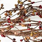 """Factory Direct Craft Hand Wrapped Red and Carmel Pip Berry Garland - 54"""" Lo"""