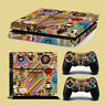 PS4 & Controllers Skin Vinyl Sticker - Collage GirlDesign - For PlayStation 4