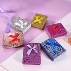 6Pcs/Set Colorful Storage Box Delicate Lovely Earring Case for Gift Box