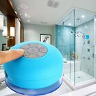 Wireless Bluetooth Shower Speaker Resistant Mic with Suction Cup Waterproof IPx4