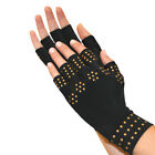 Magnetic Arthritis Therapy Fingerless Compression Gloves, Black