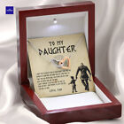 To My Daughter From Viking Dad - Gift For Viking Daughter Double Hearts Necklace