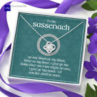 To My Sassenach Necklace, Outlander Gifts, Outlander Jewelry, Celtic Love Knot