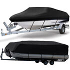 11-24FT Waterproof Boat Cover Trailable Fish Ski V-Hull Pontoon Runabout Bass