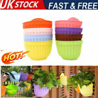 Flower Pot Wall Fence Hanging Resin Balcony Garden Plant Basket Home Decor Uk