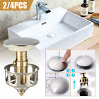 Bathroom Stainless Steel Bounce Universal Wash Basin Drain Filter Pop Up 2/4PCS