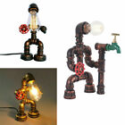 Industrial Table Lamp w/ Switch Reading Water Pipe Desk Light Steampunk Lamp US