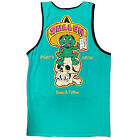 Sullen Men's Senor Tats Sleeveless Tank Top Shirt Tropical Green Clothing App...