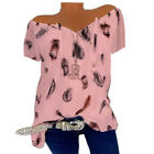 Oversized Womens Boho Floral Blouse Top Ladies Loose Baggy Summer Beach T Shirt