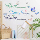 Bedroom Decor Pattern Vinyl Decal Live Every Moment Family Romantic Sticker