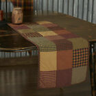 Heritage Farms Quilted Block Patchwork Runner Country Farmhouse Reversible VHC