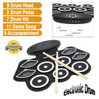 Professional Electronic Drum Set with Sustain Pedal 2 Loudspeakers for Beginners
