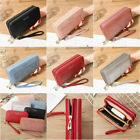 Womens Ladies Long Leather Clutch Wallet Card Holder Purse Double Zipper Handbag